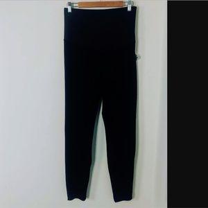 GAP Pants - Gap Maternity Full Panel Black Velvet Legging Pant